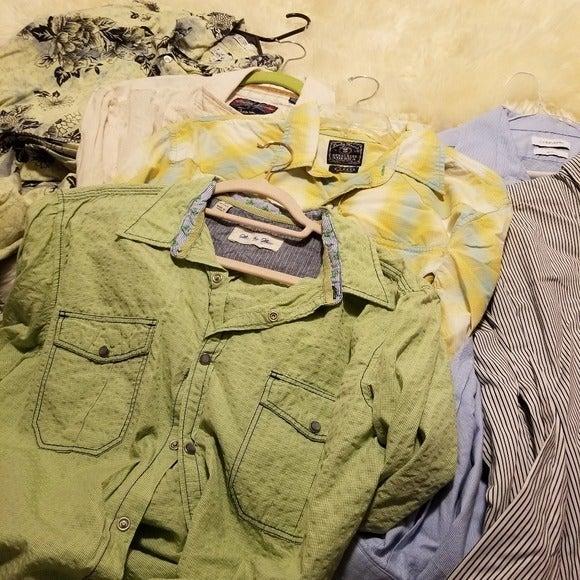 6 Mens Shirts Bundle Ralph Lauren Lucky