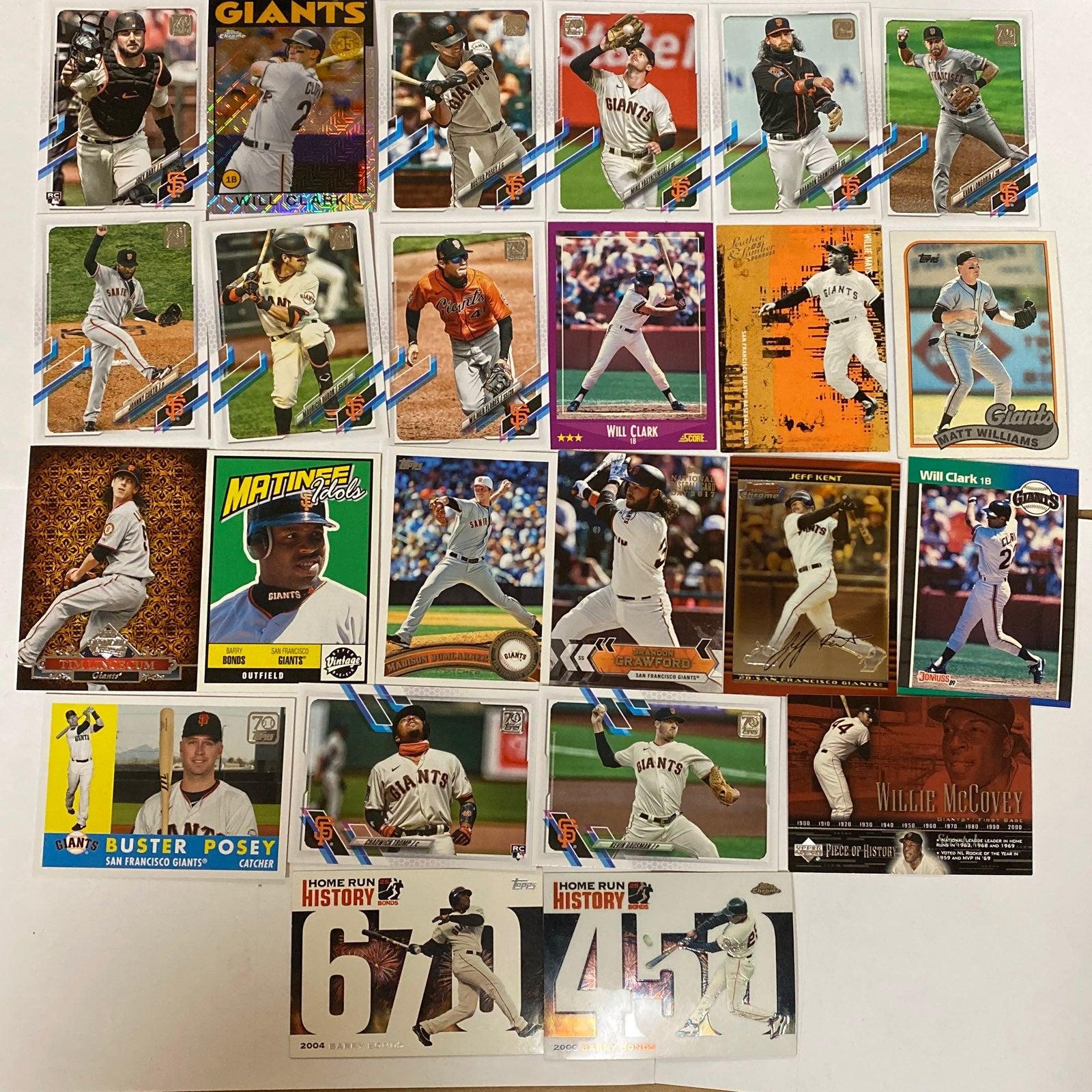 San Francisco Giants Lot 75+ Cards 80s-