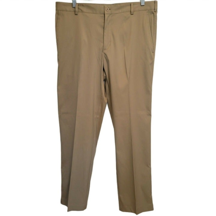 Men's 36x32 Nike Golf Pants - Dri-Fit - Beige Tan - Polyester