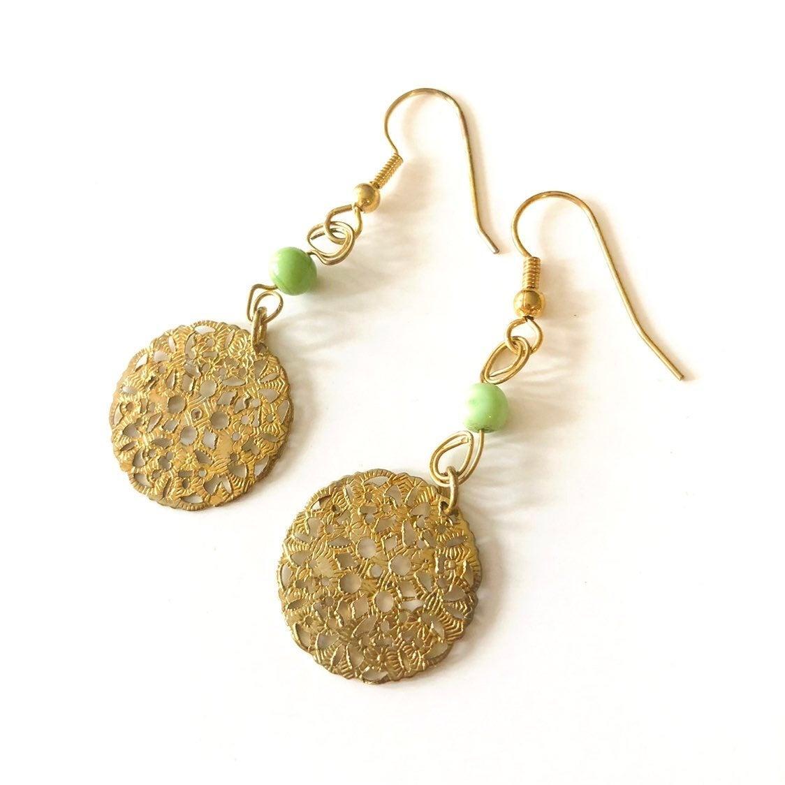 Gold drop Earrings - NEW