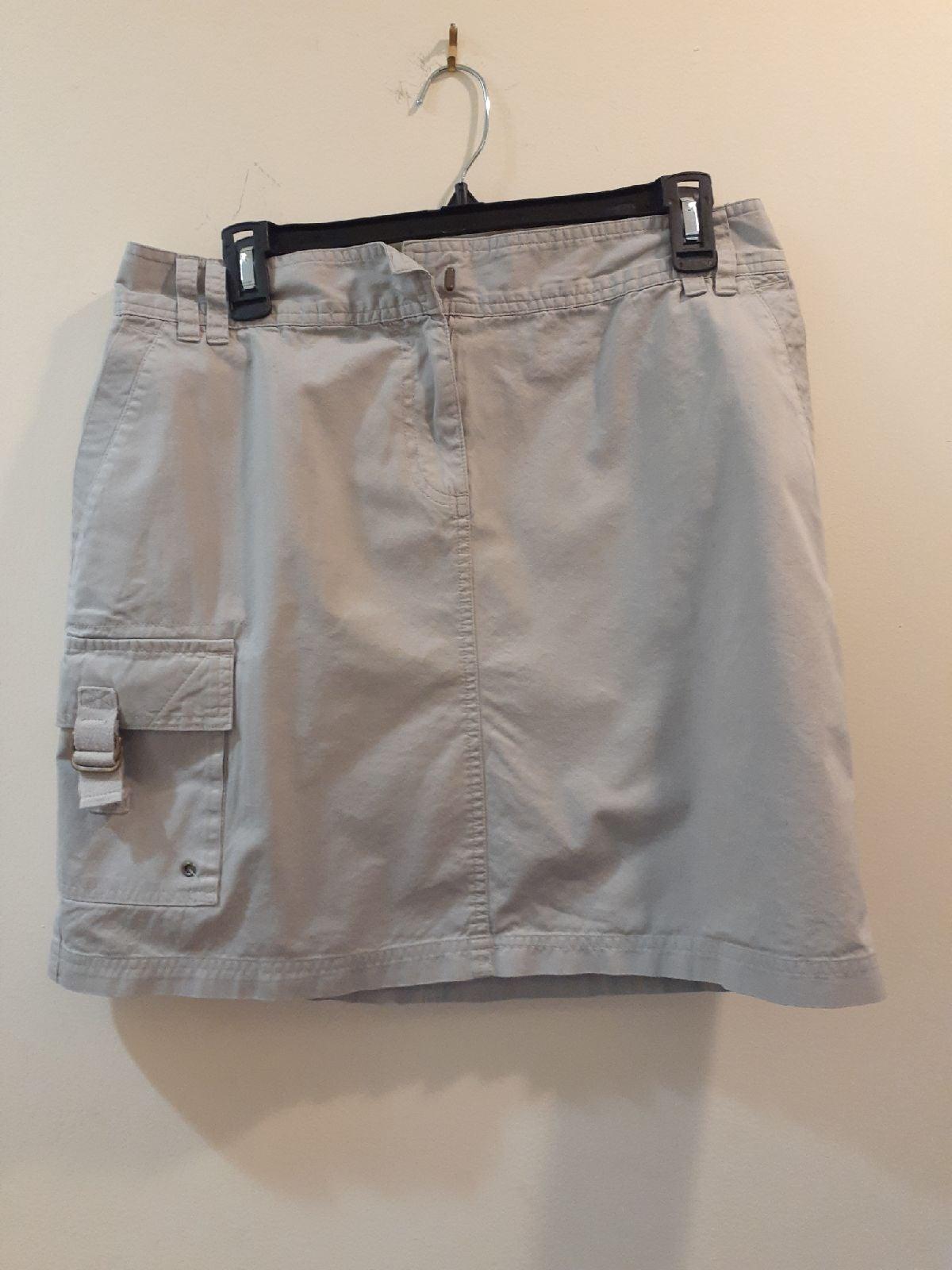 Grey mini skirt size 12 cargo style