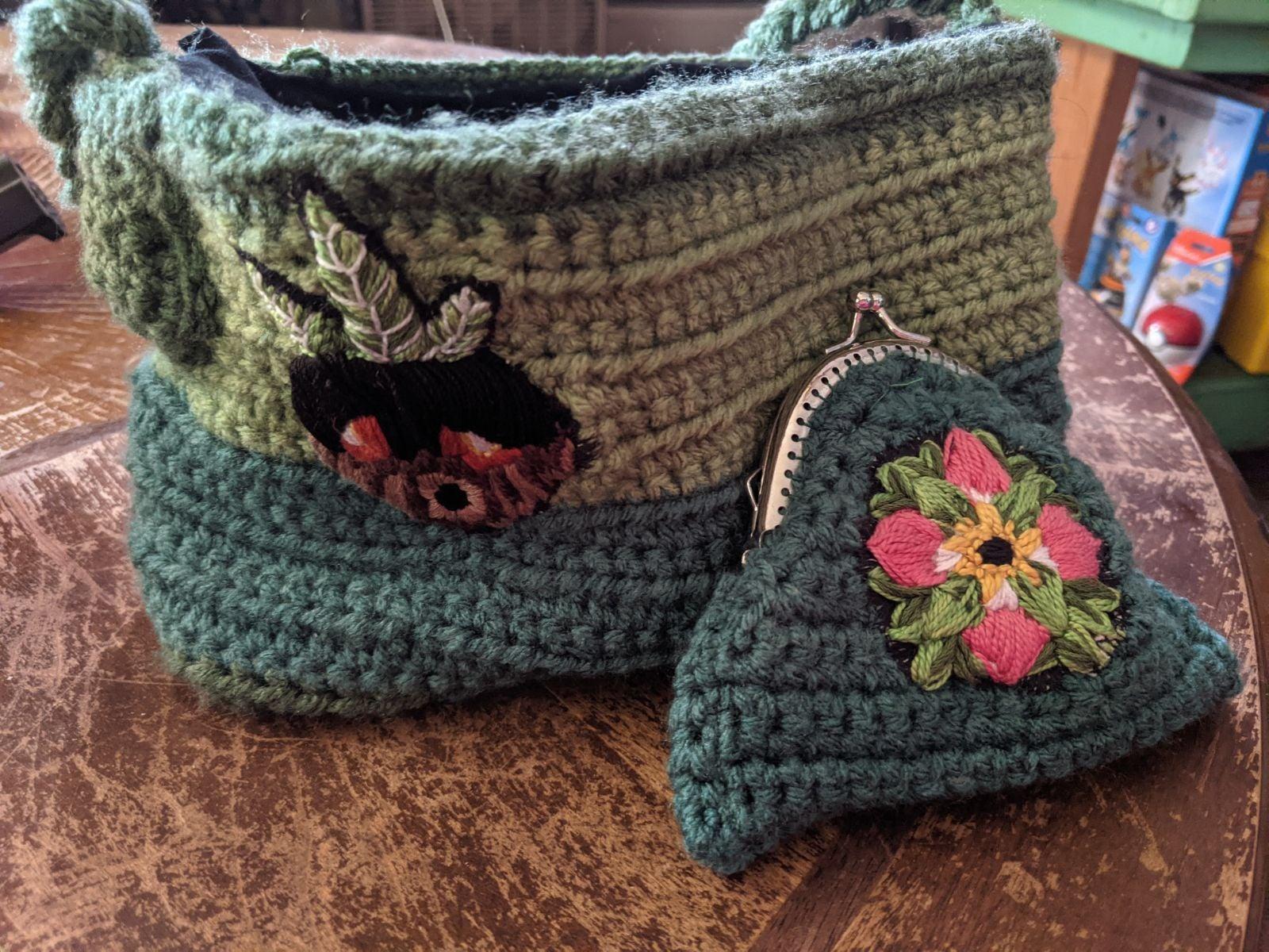Handmade Majora's Mask inspired purse