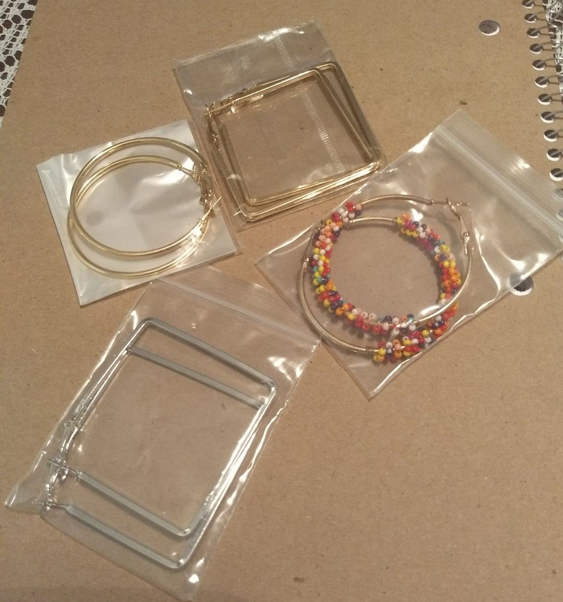 Set of 4 Pairs of Earrings for women