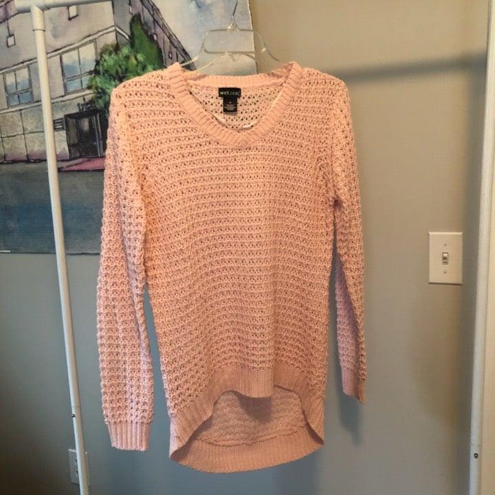 Baby Pink Knit Beach Sweater