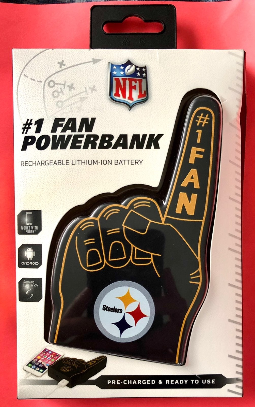 Steelers powerbank charger new