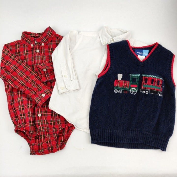 Holiday Sweater Set 24M