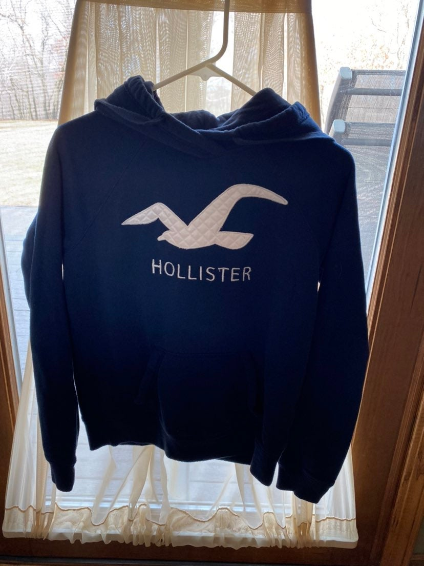 Womens Hollister navy embroidered logo h
