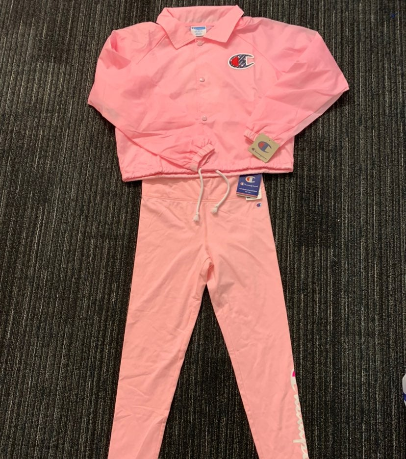 Pink Champion Set pants and jacket