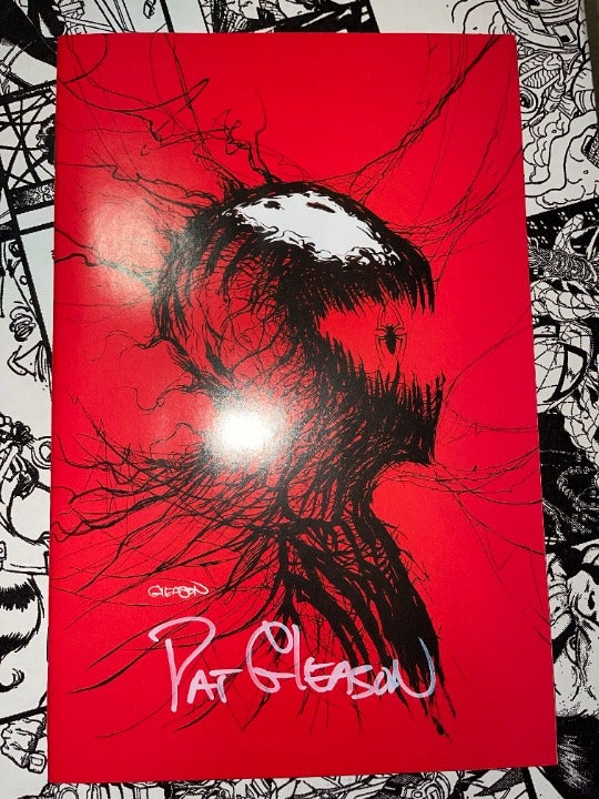 CARNAGE: BLACK WHITE AND BLOOD ISSUE #1 - PATRICK GLEASON - VIRGIN Signed