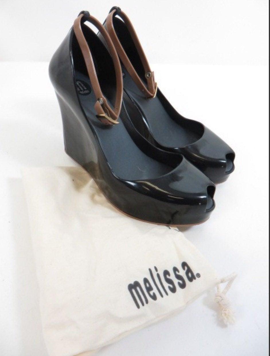 Melissa Patchuli Peep Toe Wedge