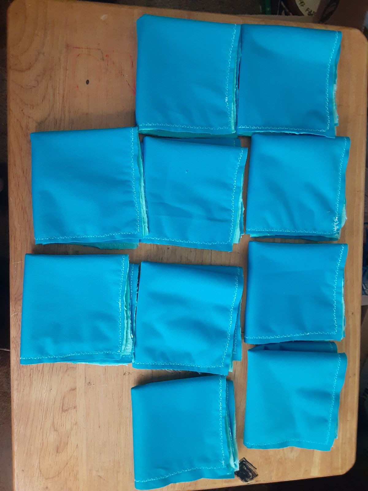 10 Reusable wipes with pul backing