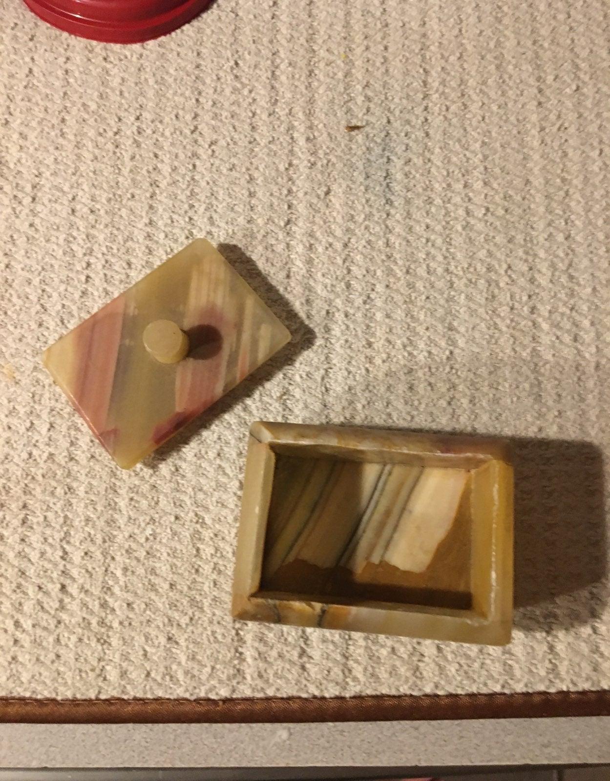 Polished stone box