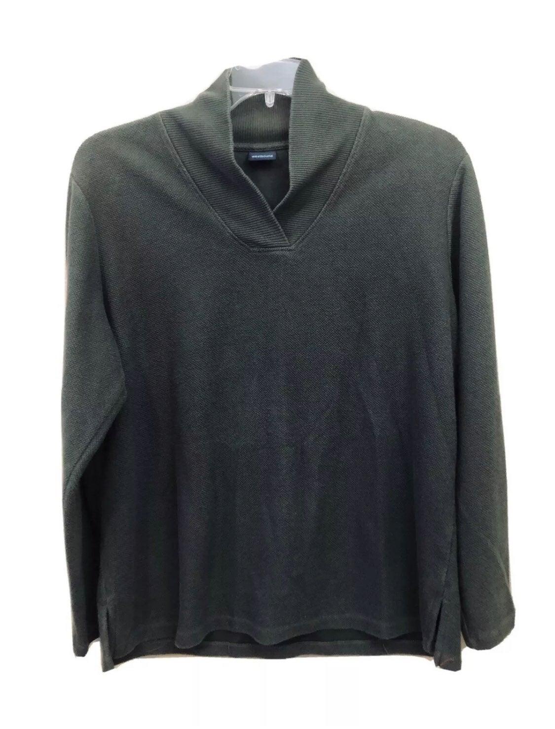 Women's Westbound Green L/S Pullover XL