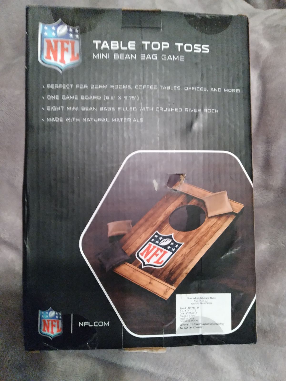 Pittsburgh steelers table toss game