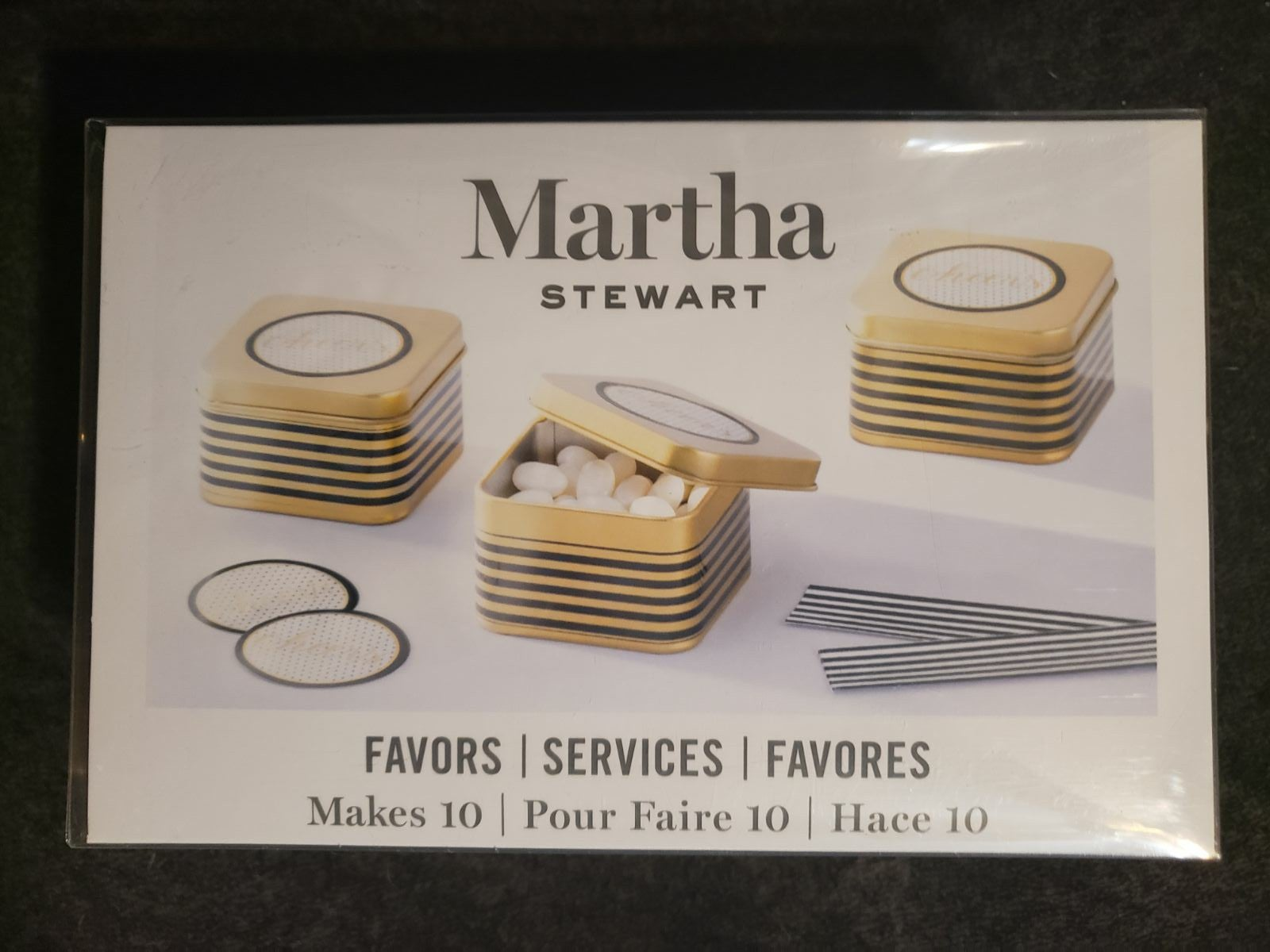 Martha Stewart Gold Favor Tins