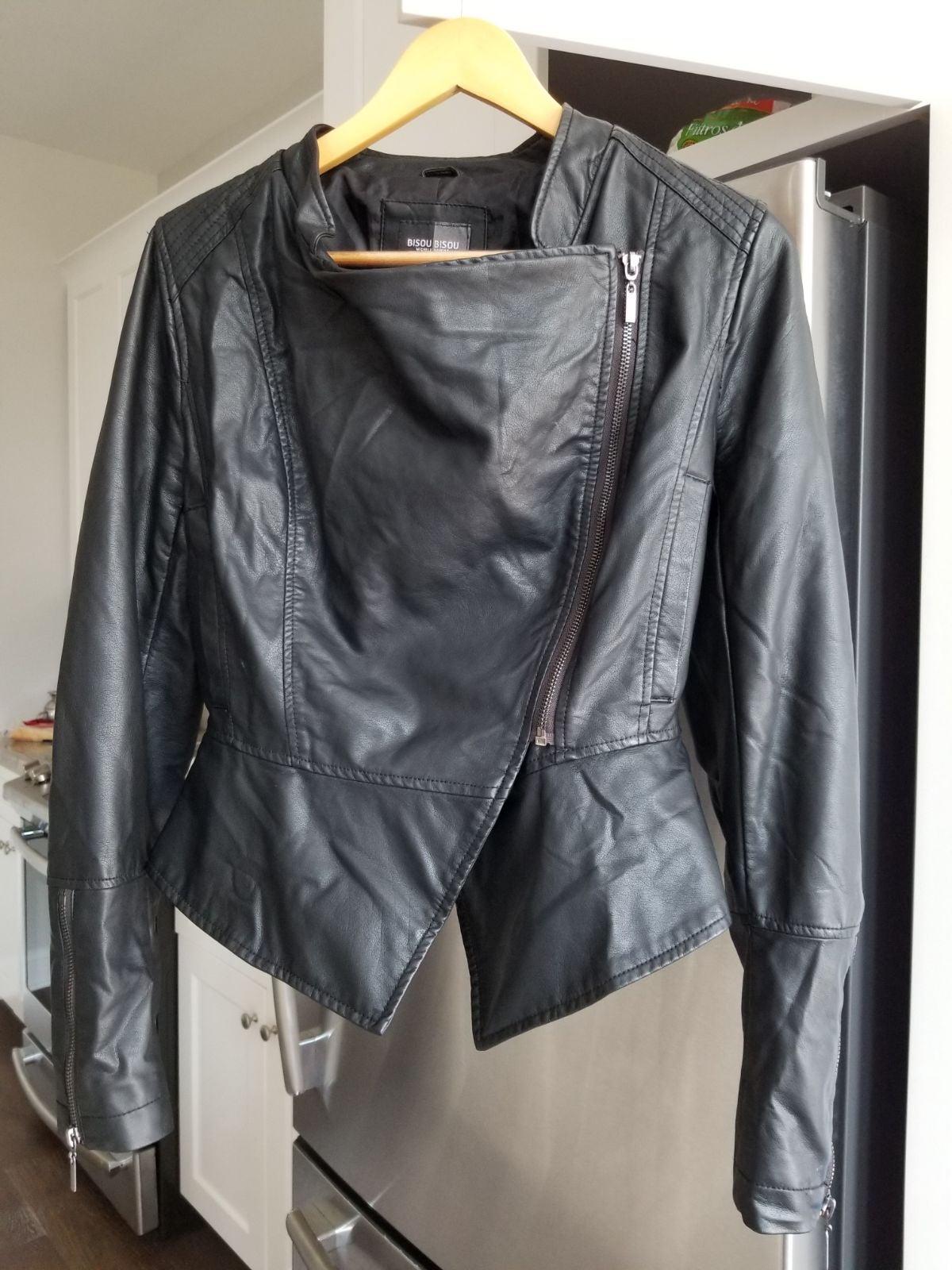 BISOU BISOU Faux Leather Jacket