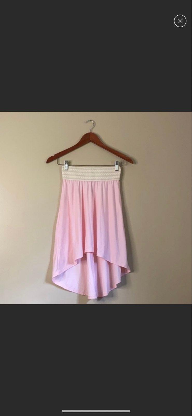 Boho high low skirt pink xs