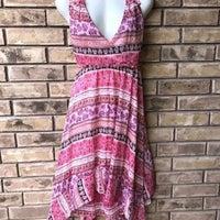 283affde92f14 Light Pink Floral Handkerchief Hem Dress