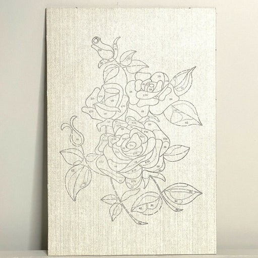 """Paint By Number Kit DIY Flowers Canvas Paint Oil Rose Leaves Unfinished 12""""x17.5"""