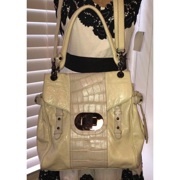 Badgley Mischca Leather Handbag Large
