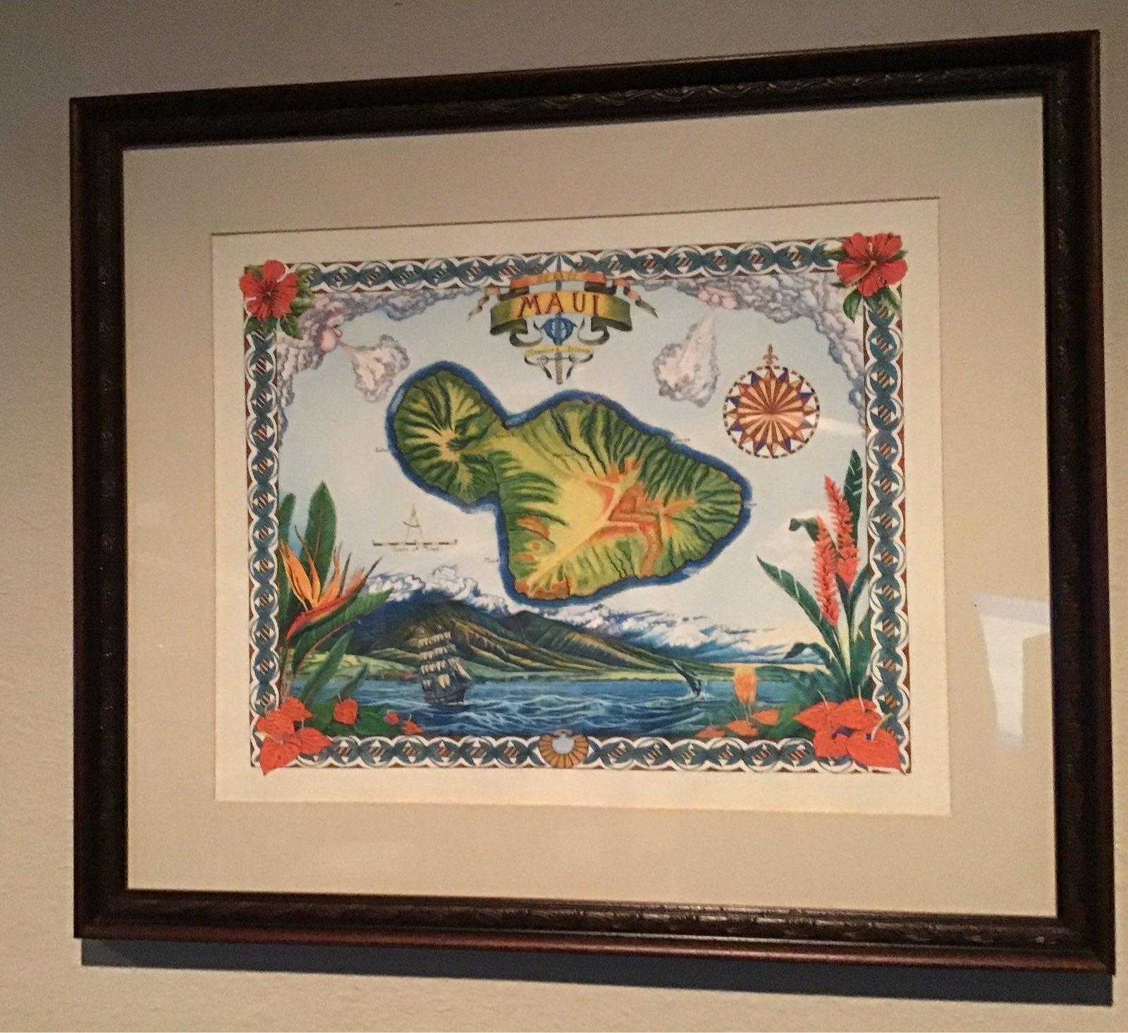 Large Framed Maui, Hawaii print