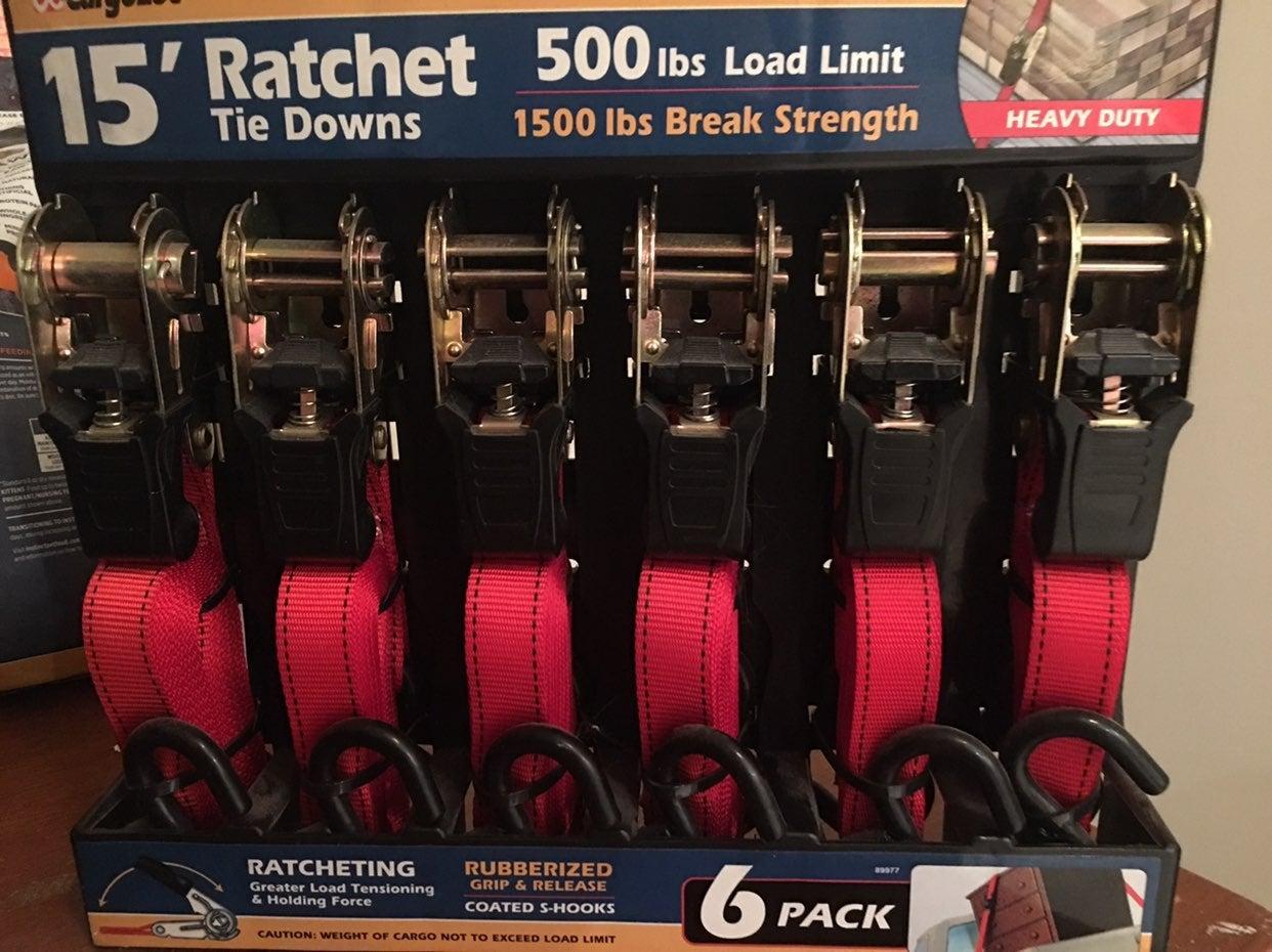 Rachet tie downs - 6 pack