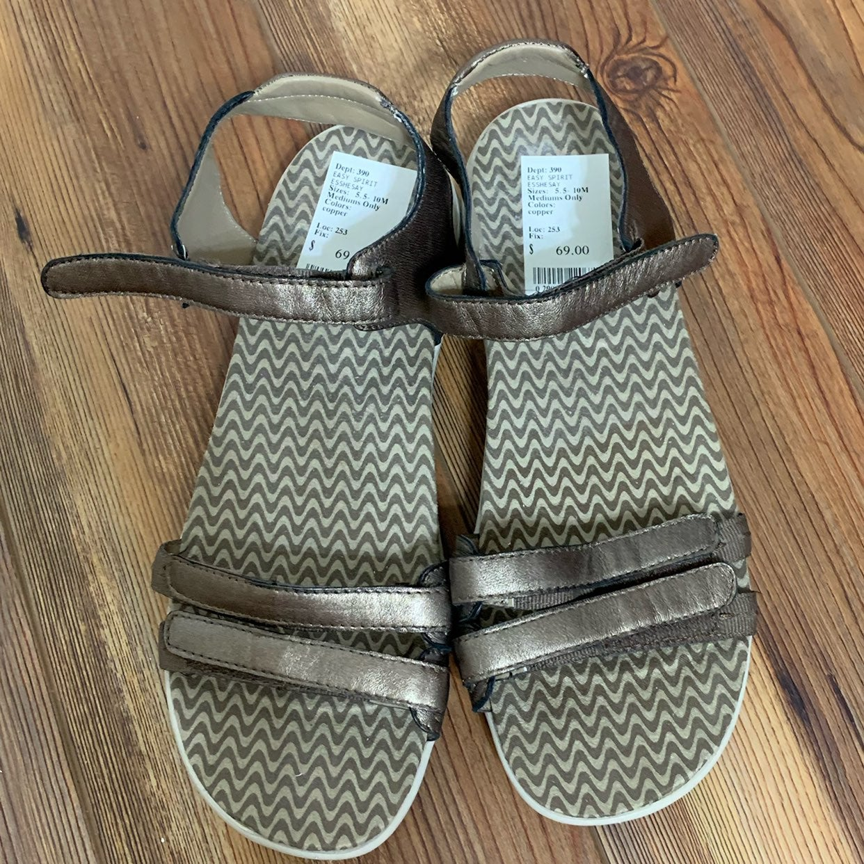 NWT Easy Spirit Gold Sandals