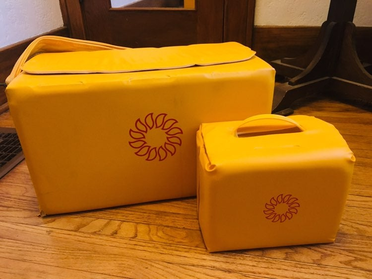 Vintage 80s Tupperware Cooler Bag Set