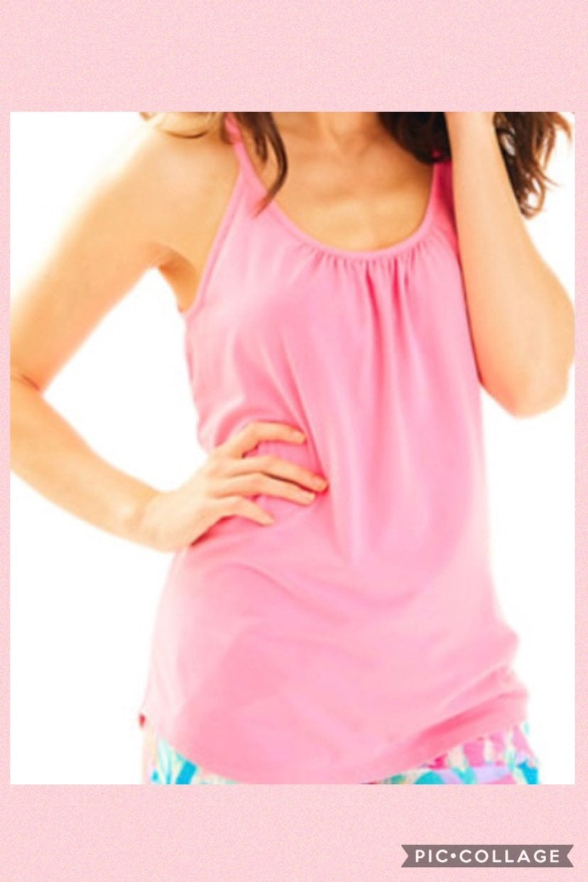Lilly Pulitzer Lacey Pink Tank