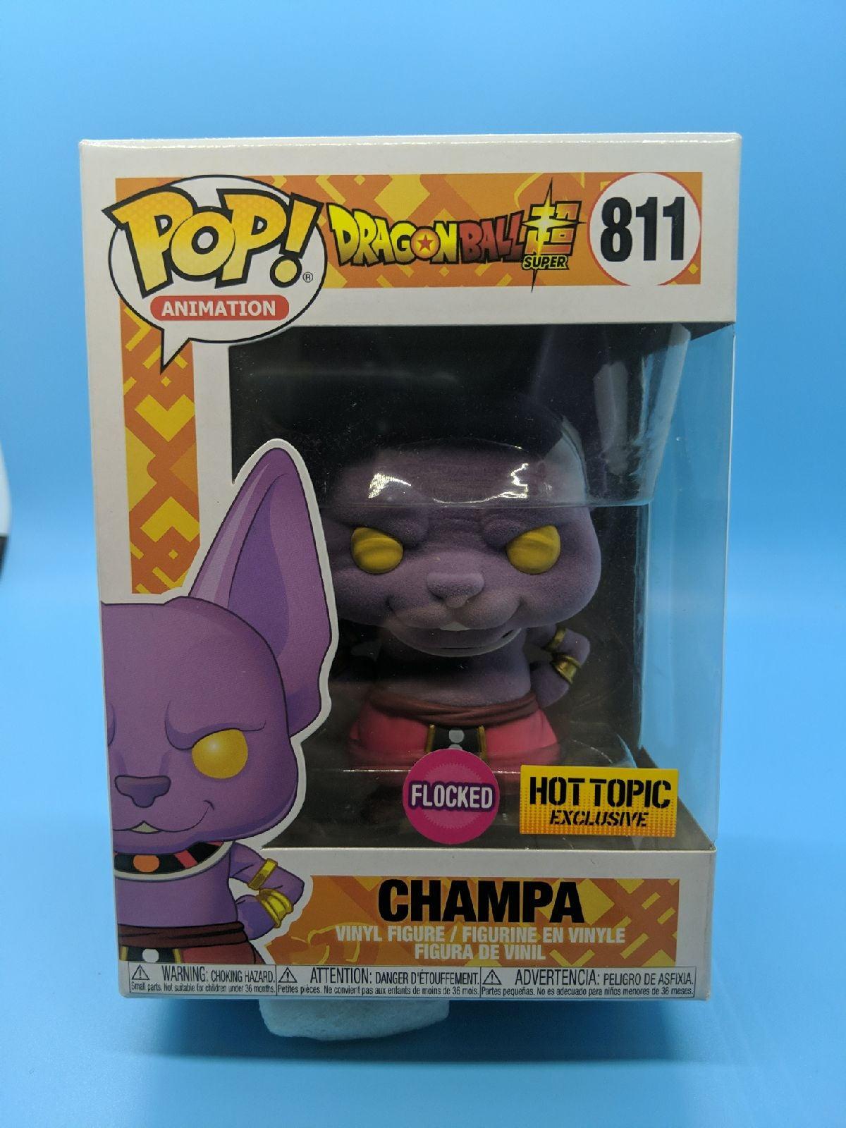 Funko Pop Flocked Champa Hot Topic DBZ