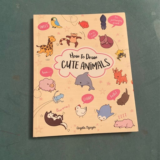 How to draw;cute animals coloring book