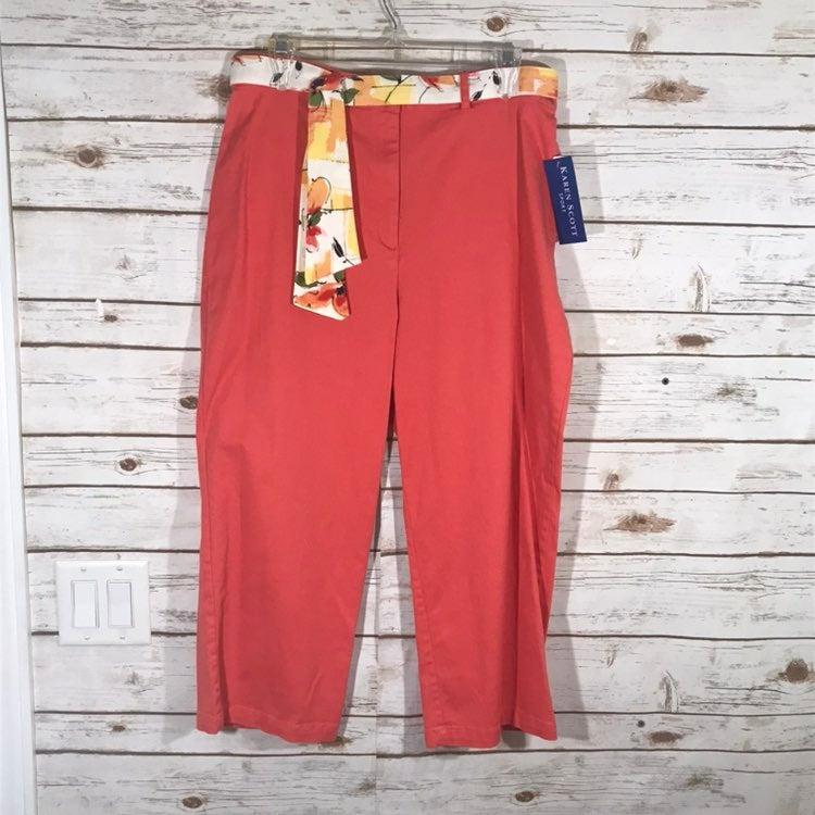 Karen Scott Women's Pants Salmon Size 14