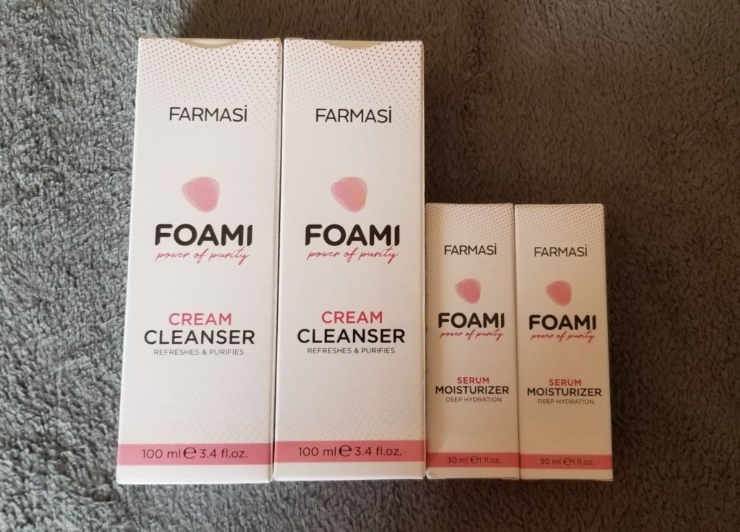 Farmasi Foami cleanser & serum moisturiz