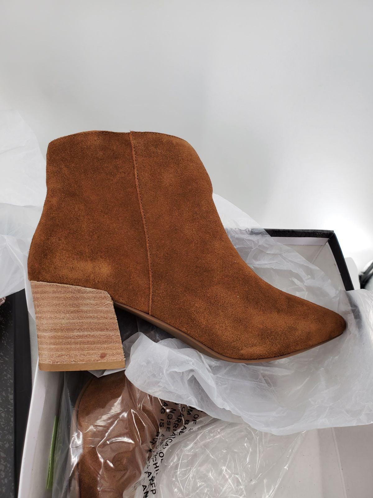 KENSIE Suede Brown Boot Ankle Bootie 10