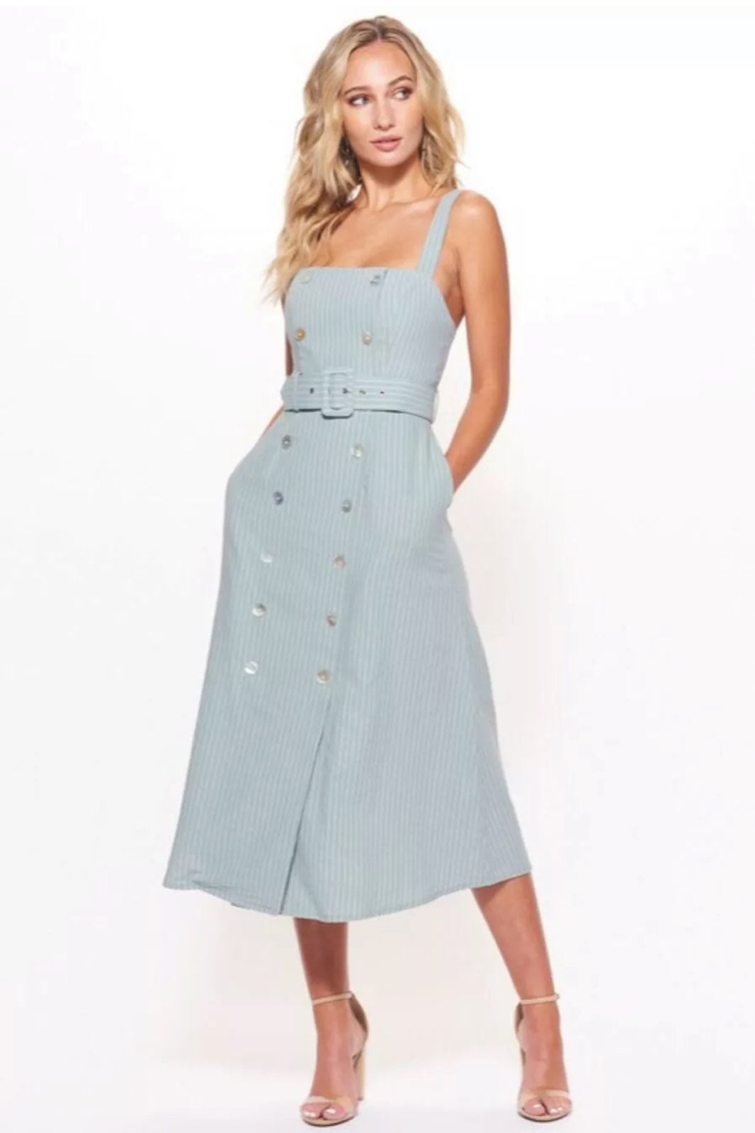 Not UR Ordinary Blue Overall Dress Small