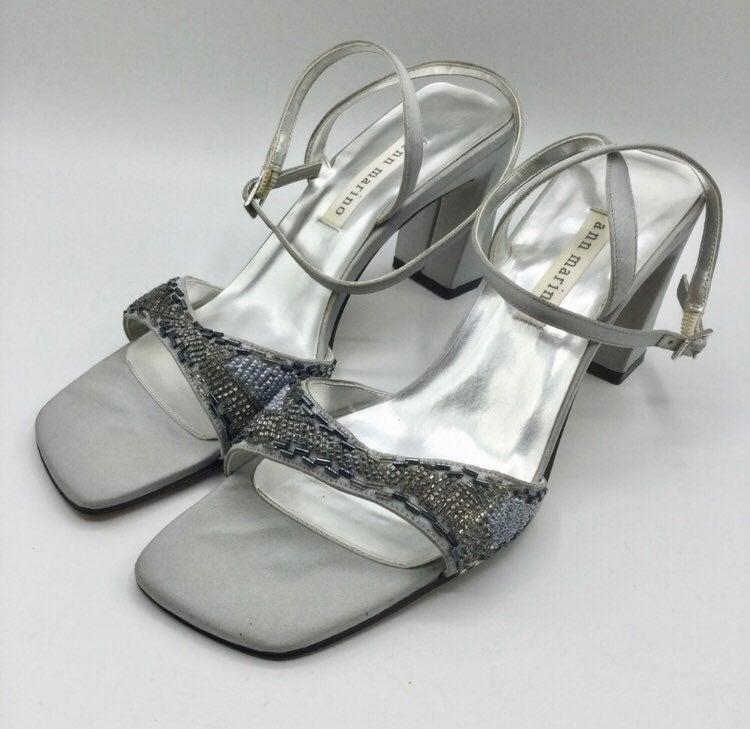Ann Marino square Toe Beaded Sandals