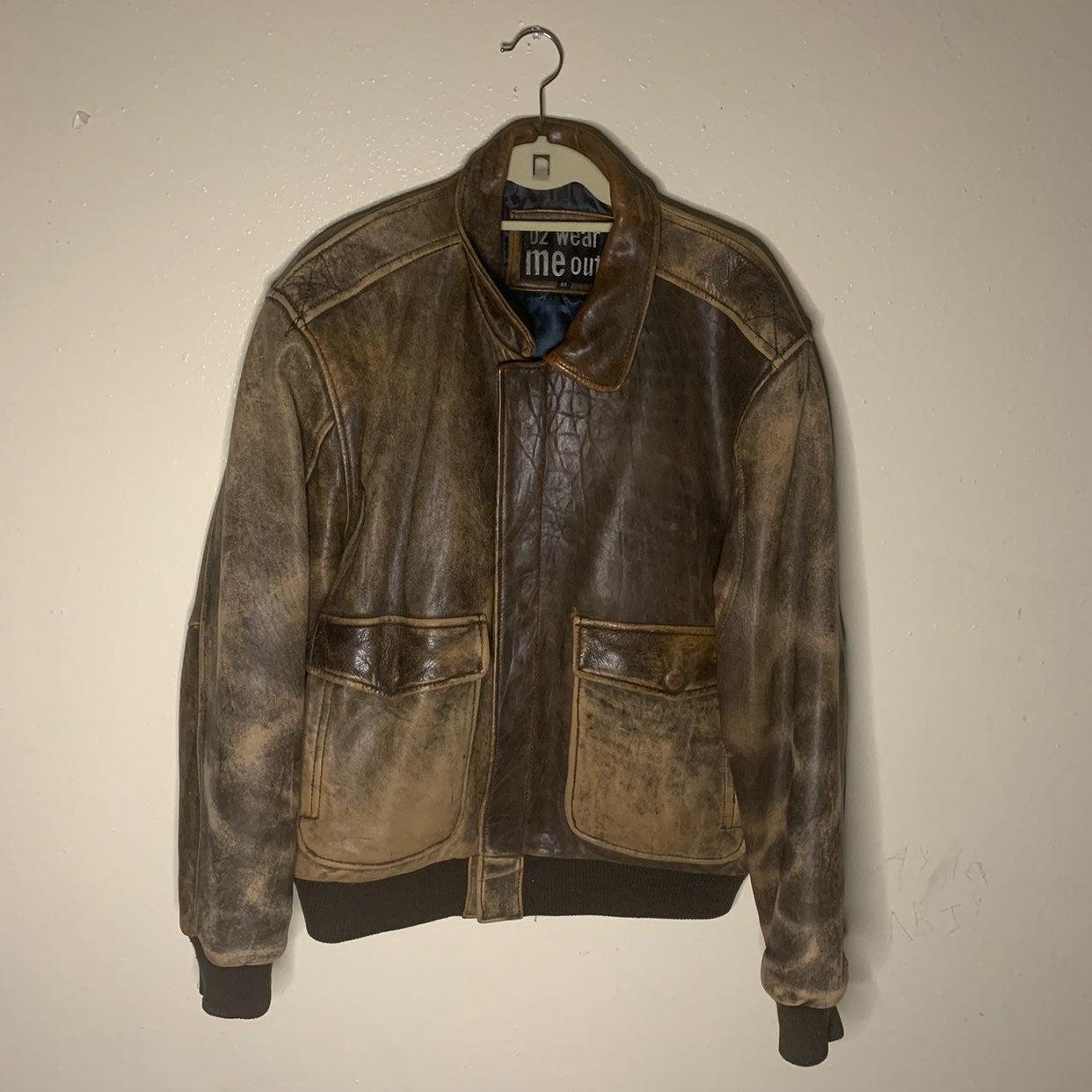 Mens U2 wear me out vintage lambskin lea