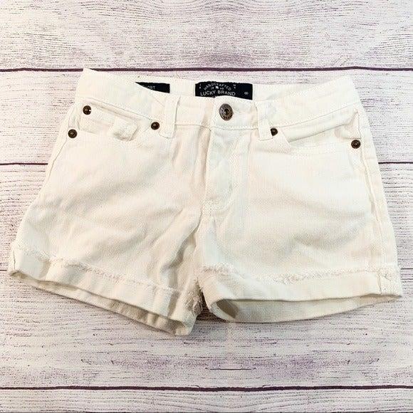 Lucky Brand White Jean shorts sz 8