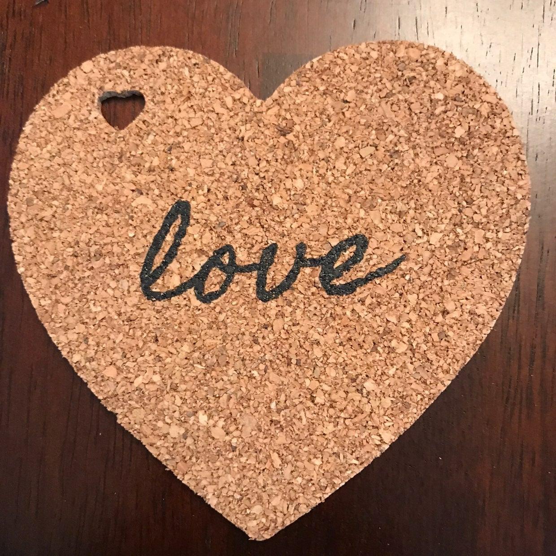 Love heart coasters bundle