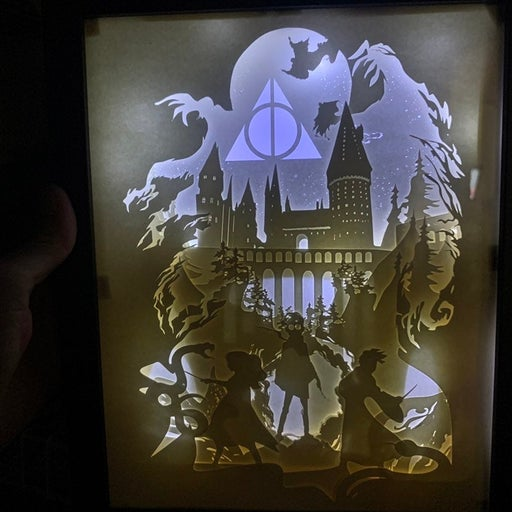Harry Potter Hogwarts Light box shadow b
