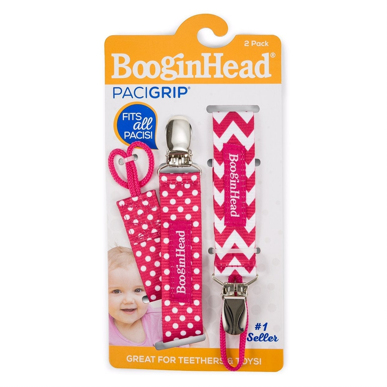 Pacifier Holder Pink