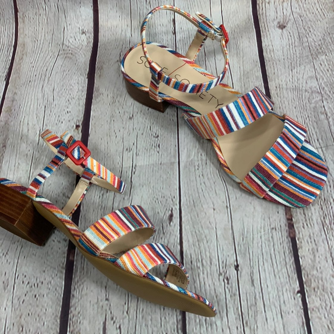 Sole Society Francey Multi Color Sandal