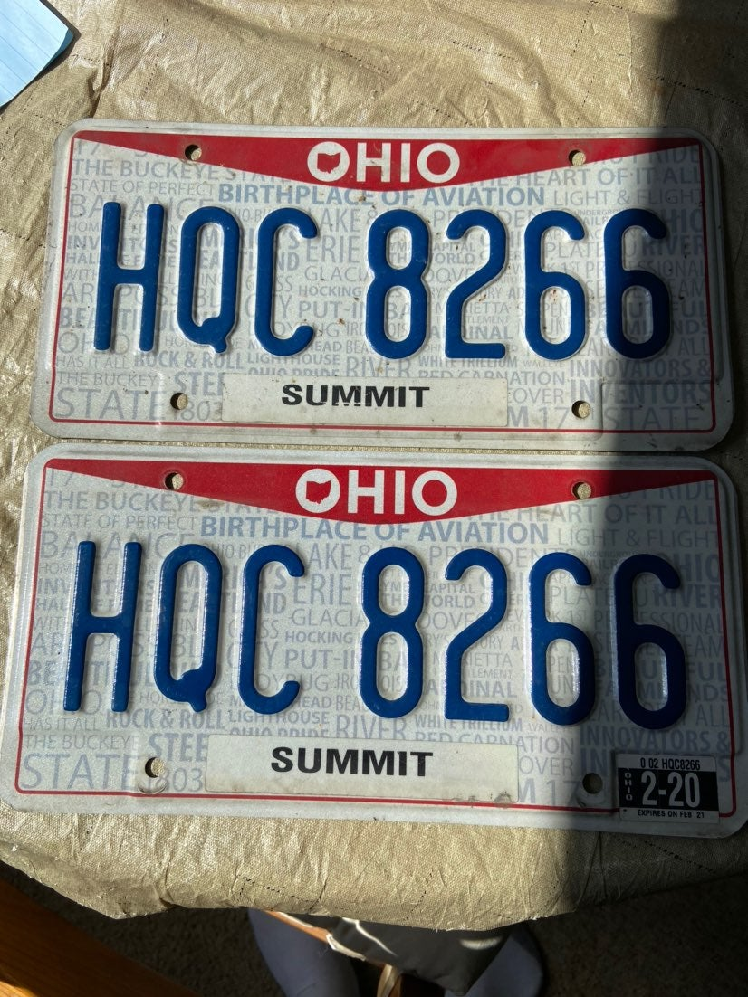 Real Ohio License Plates