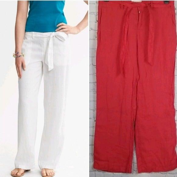 Banana Republic Tie belt Linen Pants