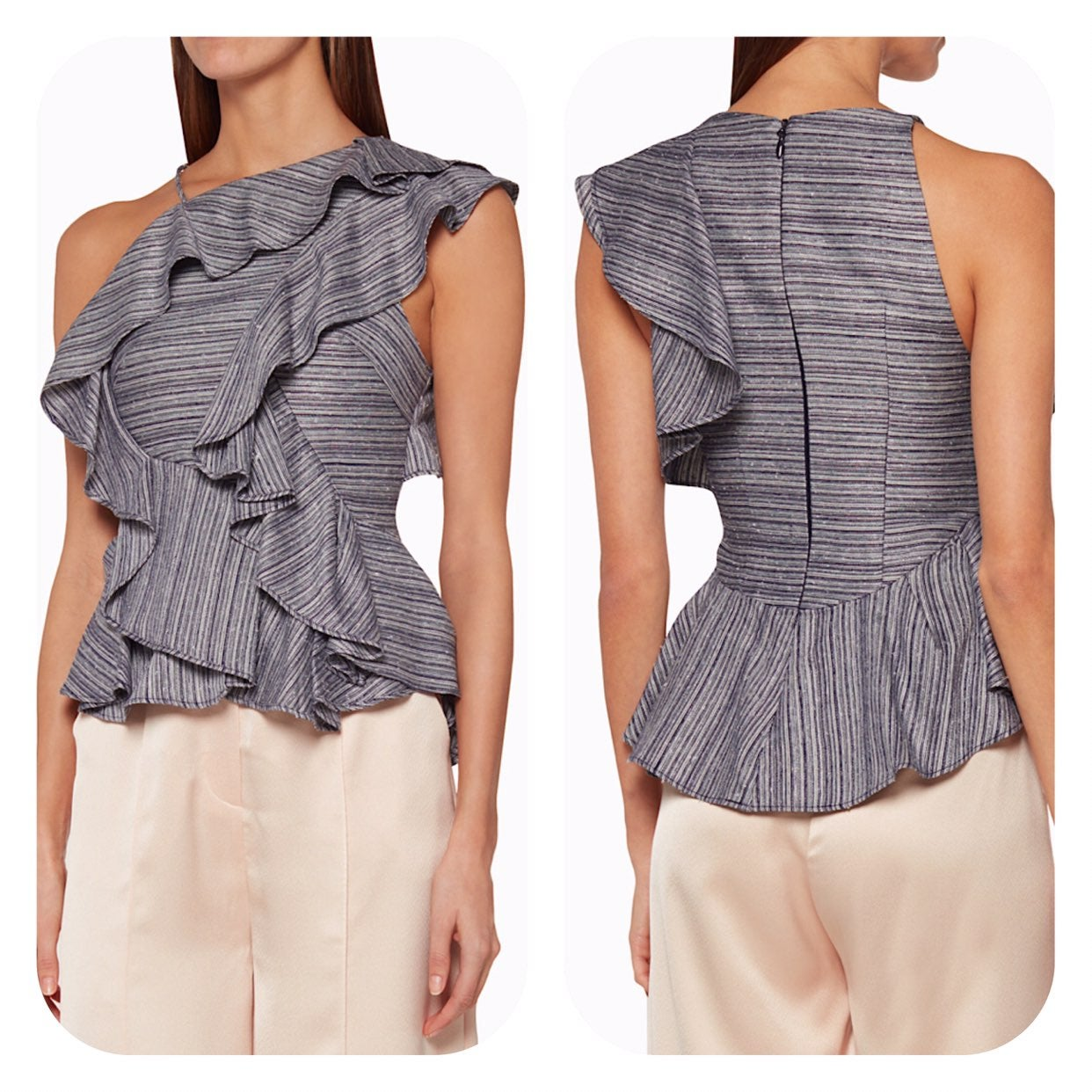 Acler French Ruffled Bray Bodice Top 6