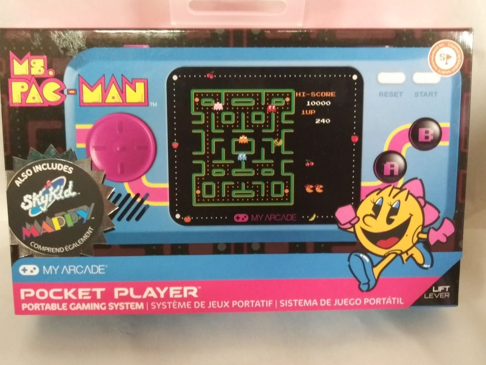 Pocket Player Ms pacman , Sky kids n Map
