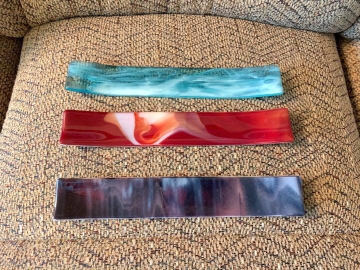 3 Glass Magic Wand Displays Holders