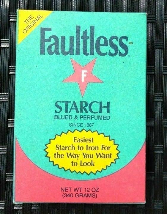 Faultless Starch Powder Box Blued ~ NOS