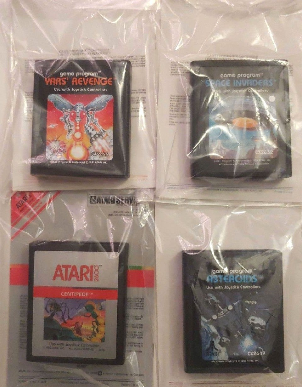Atari Game Lot. Four Games With Books!