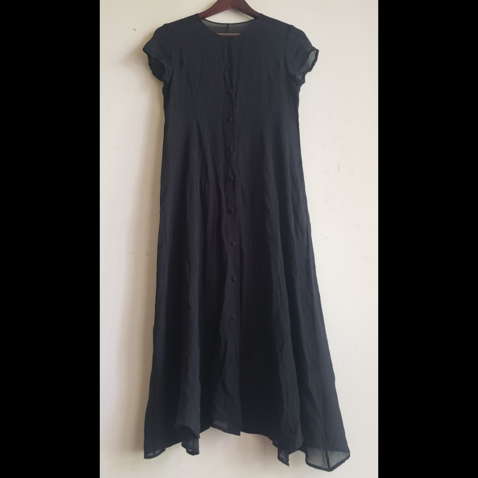 Goth Romantic Maxi Sheer Button-Up Dress